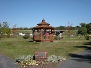 Gazebo at the Luray Garden Club Memorial Garden on the Greenway