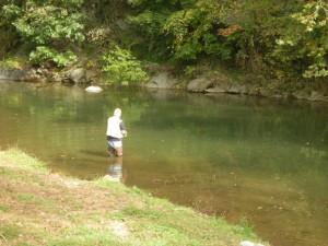 Fishing on the Hawksbill Creek