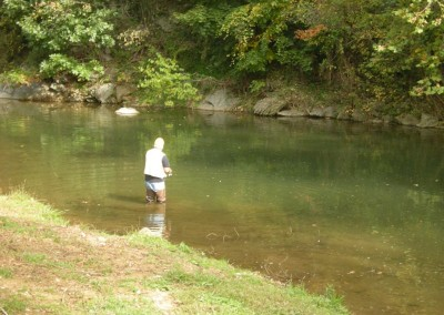 Fishing on the Hawksbill Creek