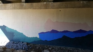 start of pier mural